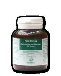 Multivitamine und Mineralien für Kinder 400mg FOOD STATE V2, 60 VegeTabs