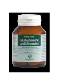 Multivitamine und Mineralien 1100mg FOOD STATE V2, 60 VegeTabs