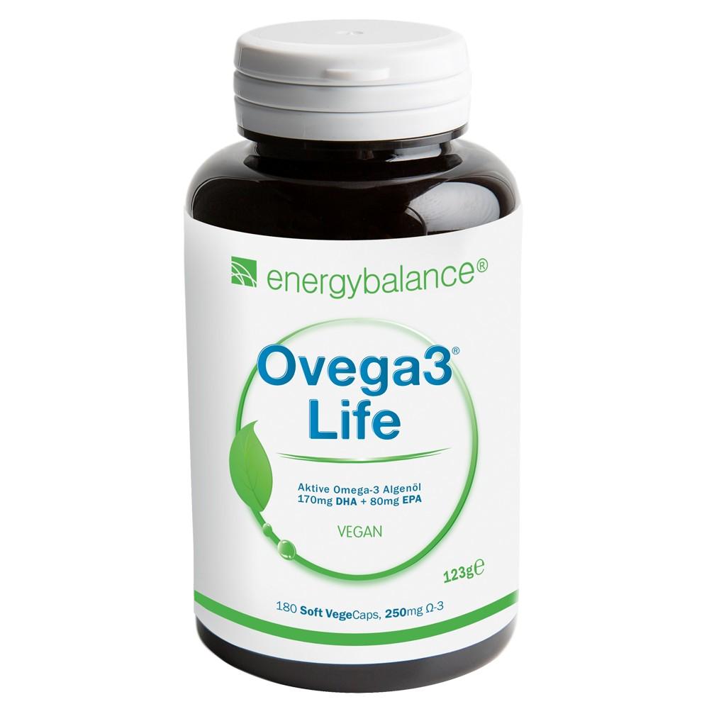 Ovega3 life DHA+EPA Algenöl 250mg, 180 VegeCaps