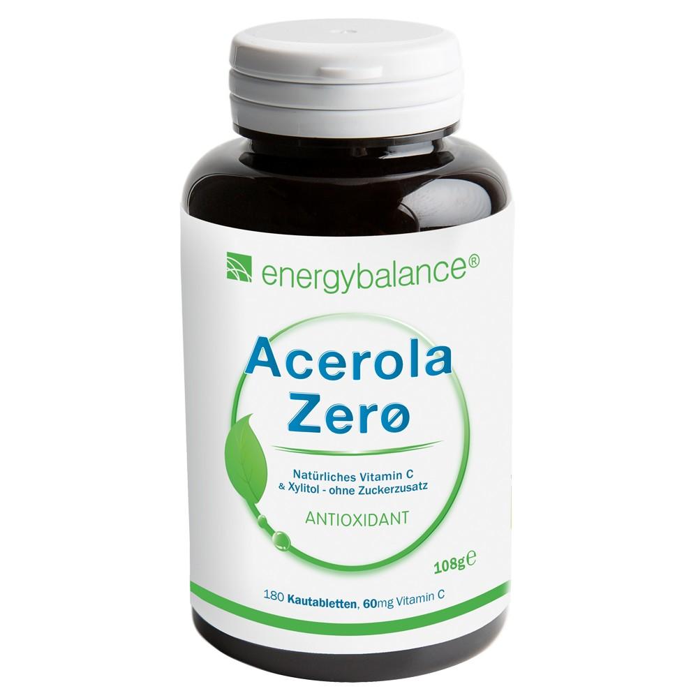 ACEROLA Zerø natürliches Vitamin C 60mg, 180 Kautabs