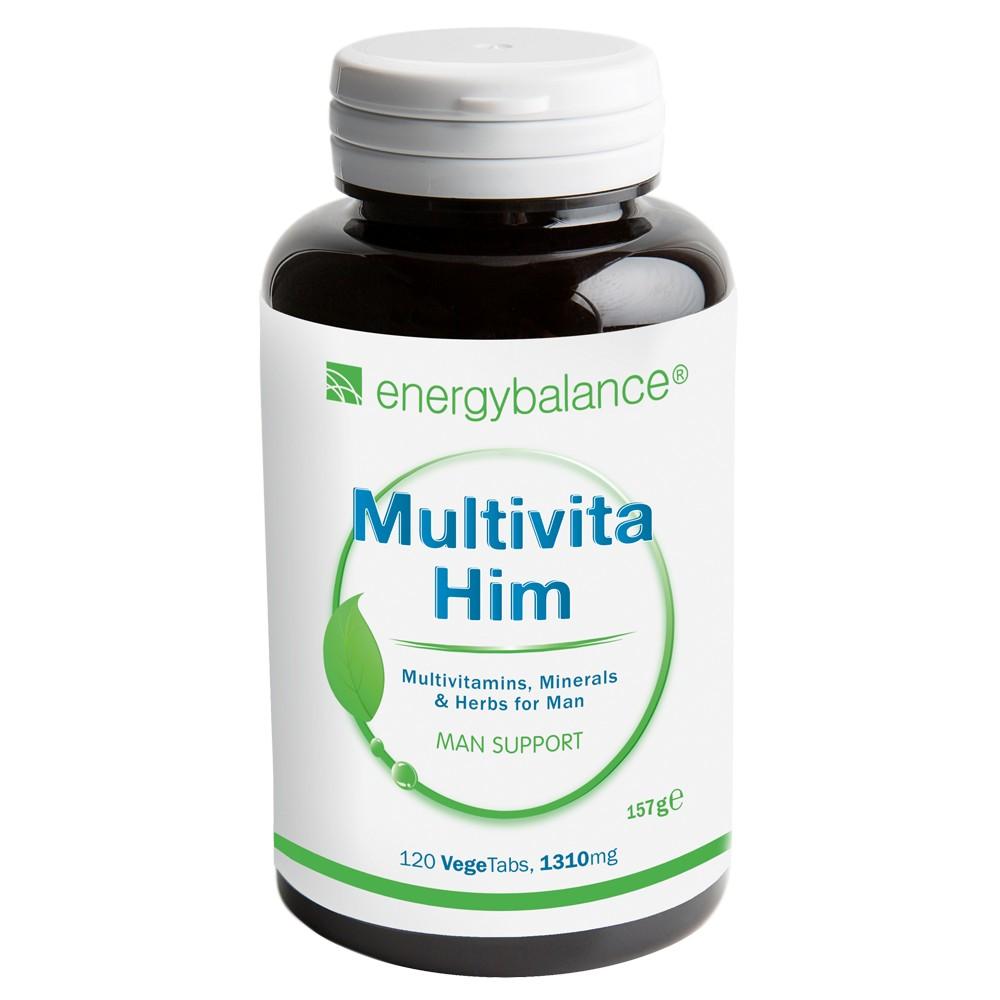 MultiVita-HIM Bio-Food Multivitamine, Minerale + Kräuter für Männer 1310mg, 120 VegeTabs