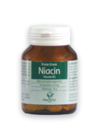 Niacin Vitamin B3 50mg FOOD STATE V2, 60 VegeTabs