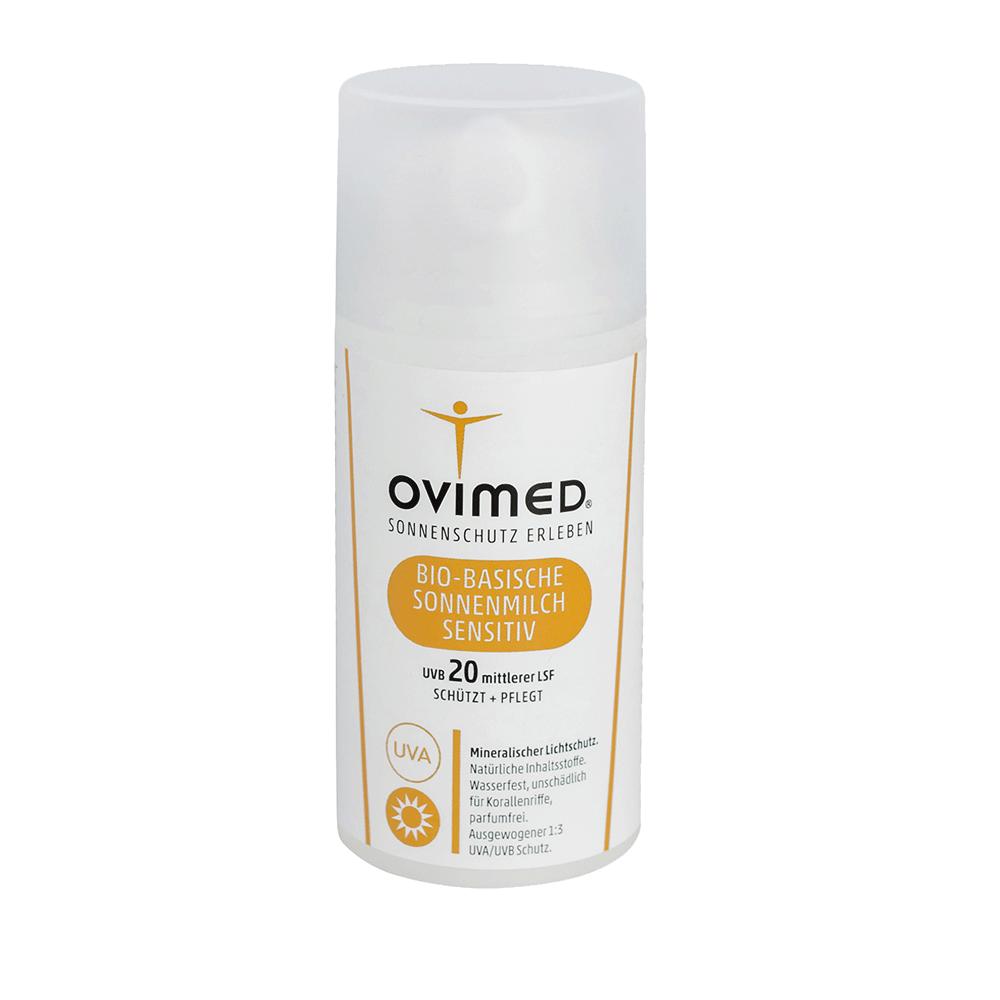OVIMED Bio-Basische Sonnenmilch Sensitiv LSF 20, 100ml