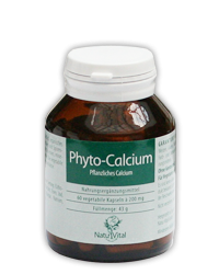 Phyto-Calcium 200mg NaturVital, 60 VegeCaps
