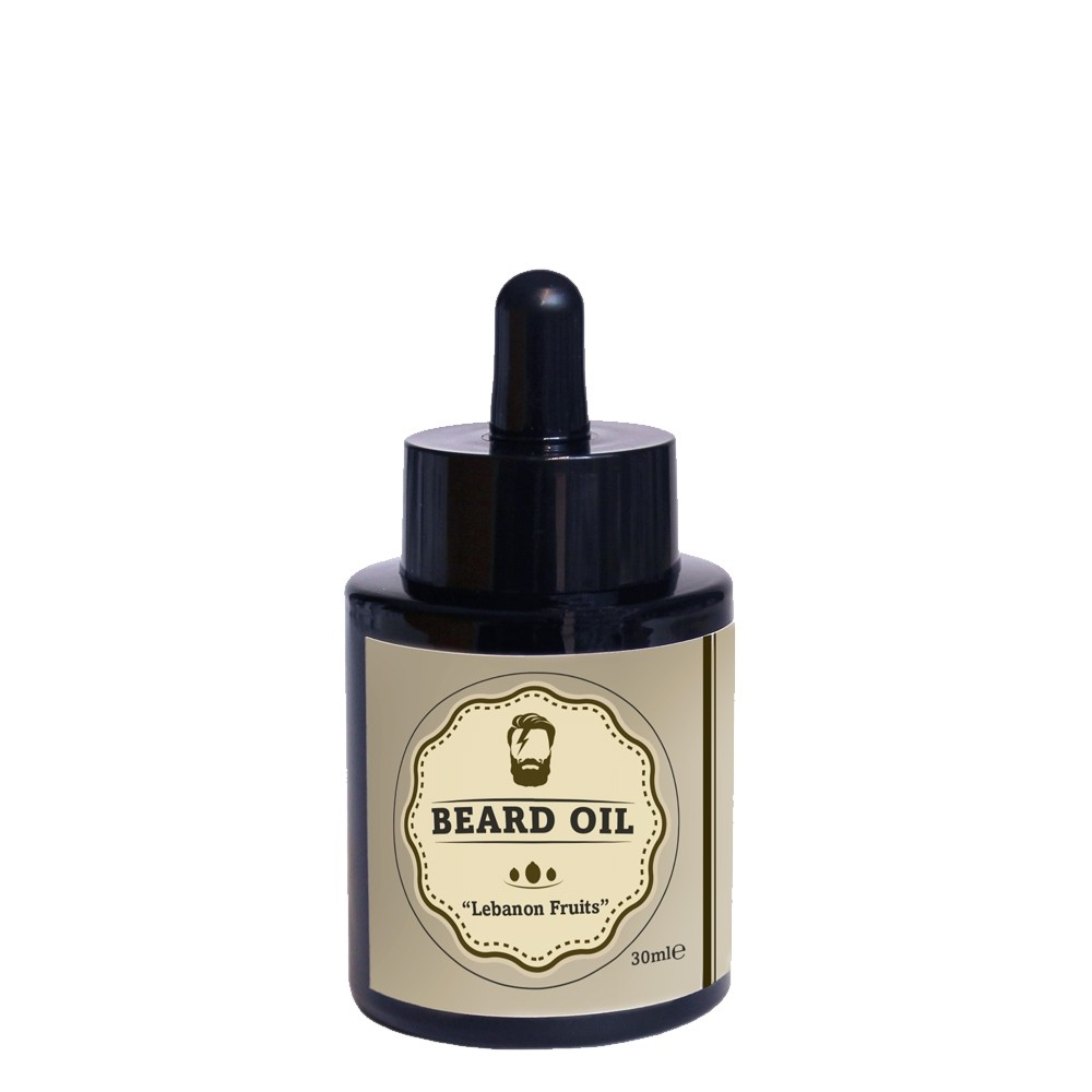 "Beard oil olio biologico per barba e baffi ""Lebanon Fruits"", 30ml"