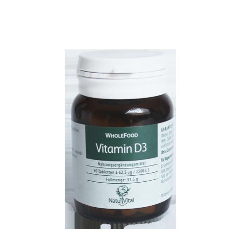 Vitamina D3 FOOD STATE 62.5µg, 90 VegeTabs