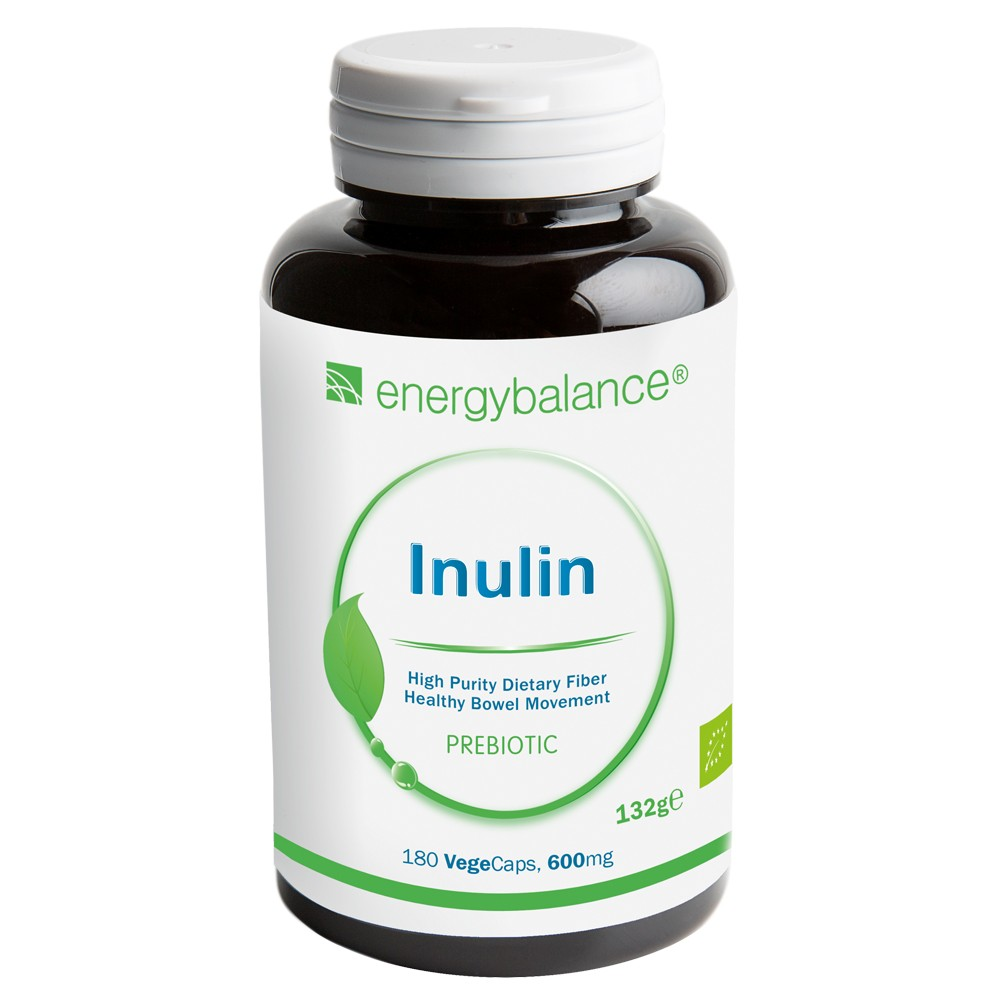 Inulina BIO Agave Fibra Alimentare Prebiotica 600mg, 180 VegeCaps