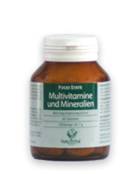 Multivitamine e Minerali 1100mg FOOD STATE V2, 60 VegeTabs