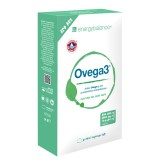 Ovega3 90 capsule di olio di pesce con 3 antiossidanti naturali astaxantina, Q10 e vitamina C