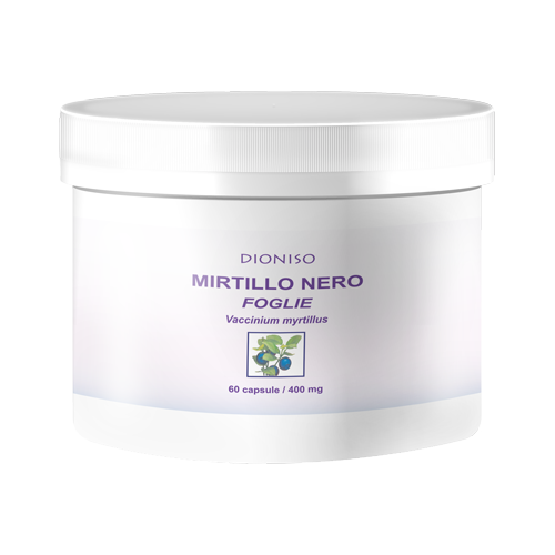 Mirtillo Nero foglie 450mg, 60 VegeCaps