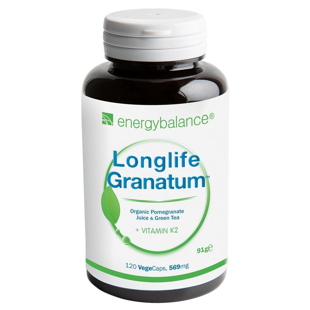 Longlife Granatum Nr. 1 + Vitamina K2, 120 VegeCaps