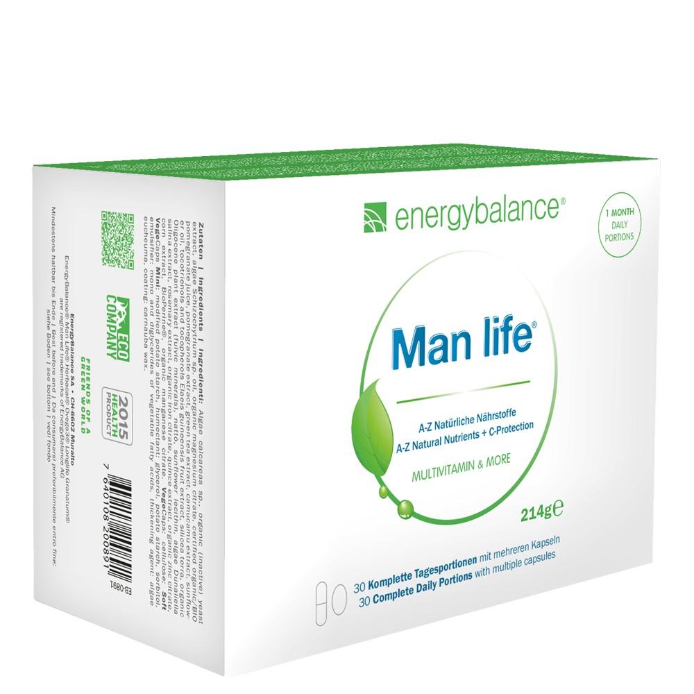 Man life, nutrienti naturali dalla A alla Z, 30 monoporzioni giornaliere