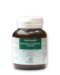 Multivitamine e Minerali per bambini 400mg FOOD STATE V2, 60 VegeTabs