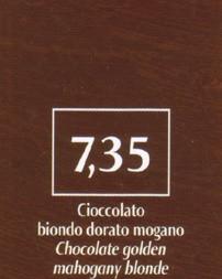 FM Natürliche Coloration Schokobraun 7,35 blond golden mahagoni