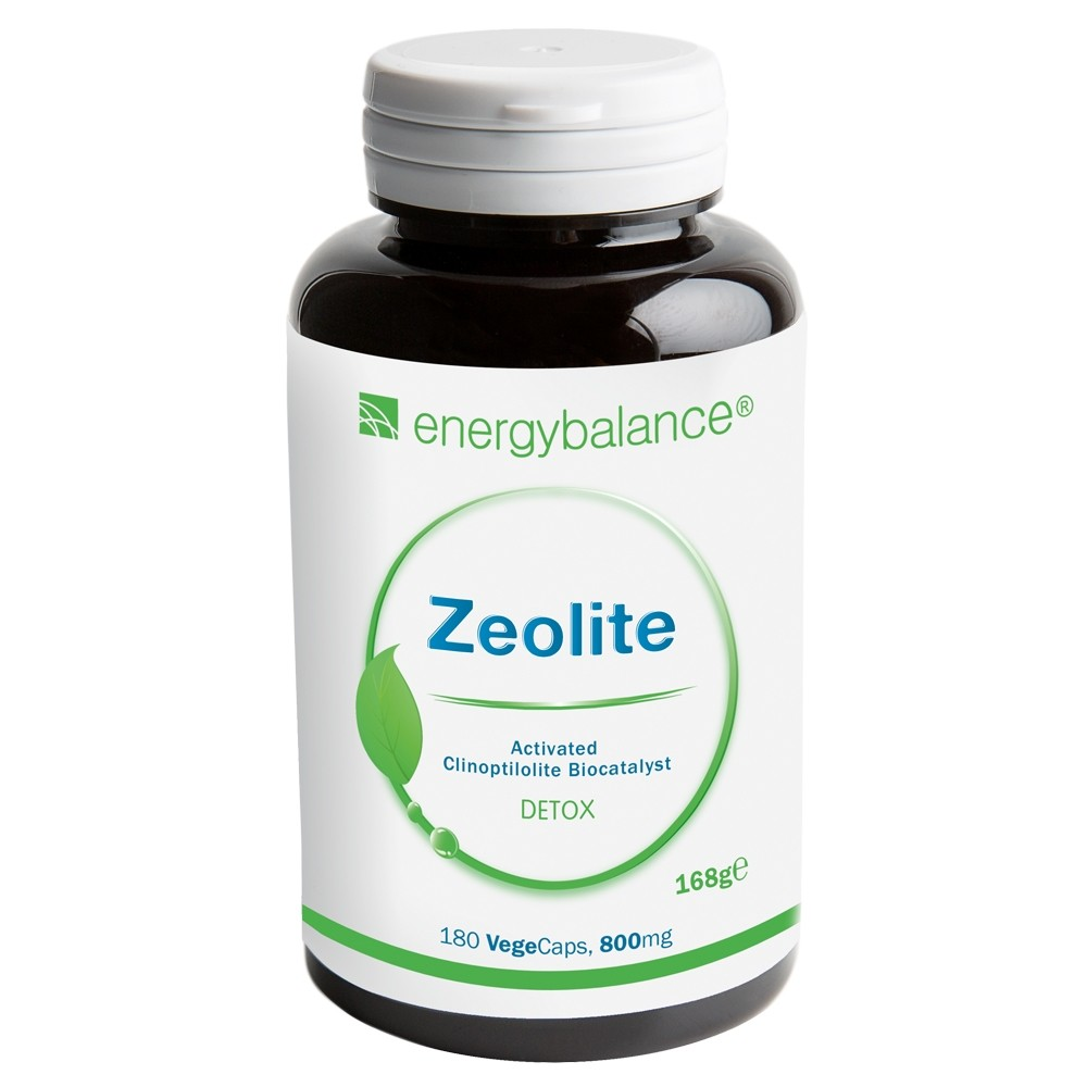 Zeolite 93% Klinoptilolith Detox 800mg, 180 VegeCaps