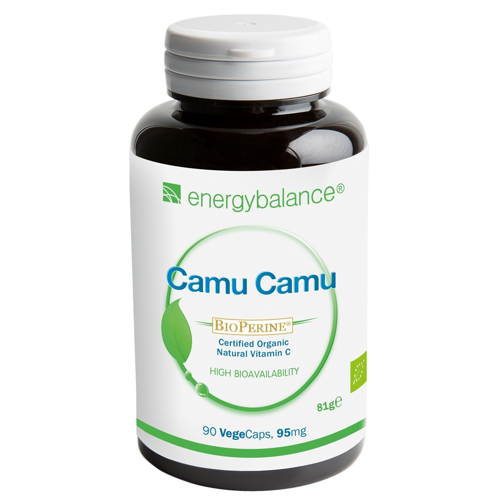 CamuCamu HighAbsorption organic Vitamin C + BioPerine, 90 VegeCaps