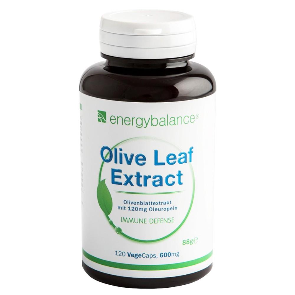 Olivenblatt Extrakt 20% Oleuropein Olive Leaf Extract 600mg, 120 VegeCaps