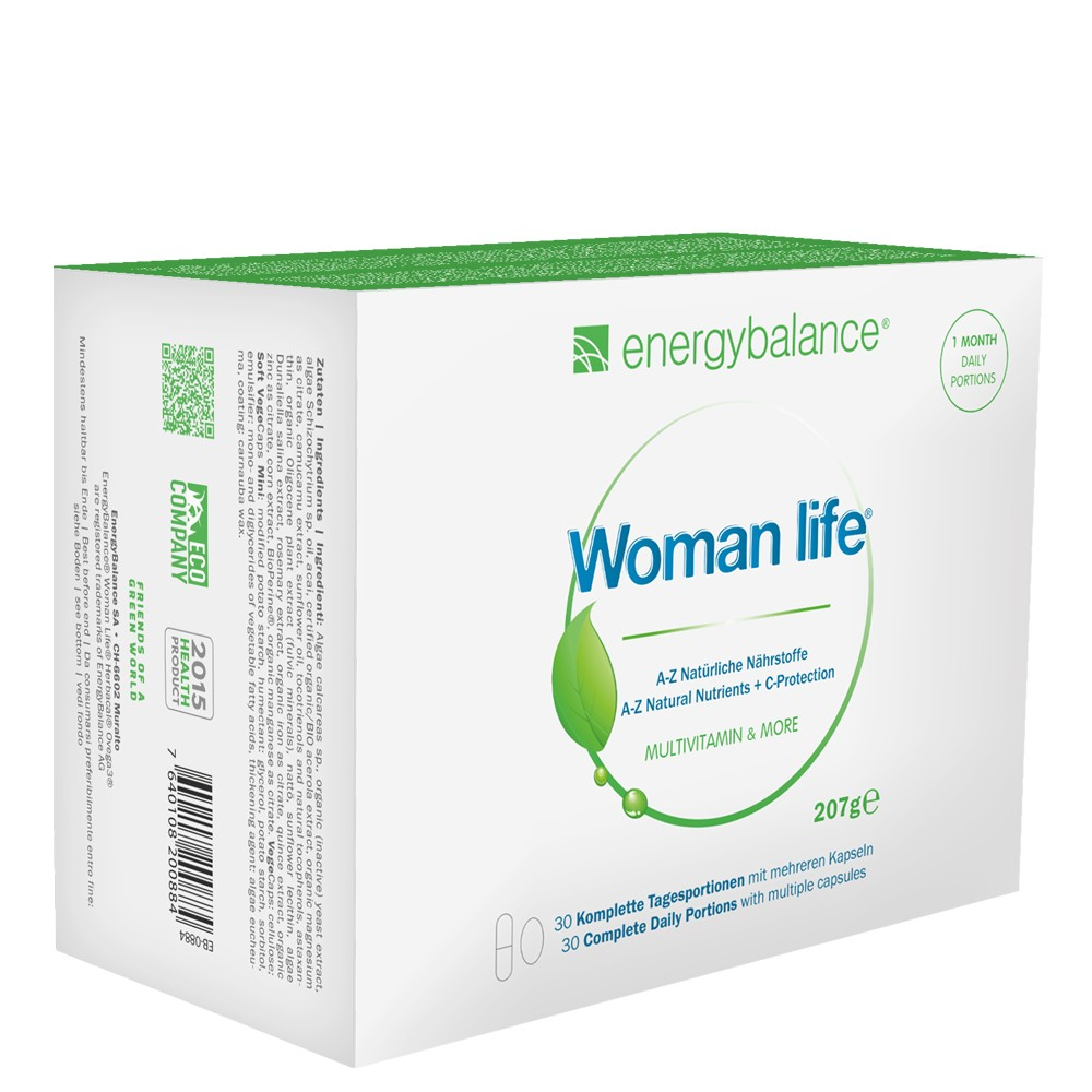 Woman Life A Z Naturals Nutrients 30 Daily Portions By Energybalance