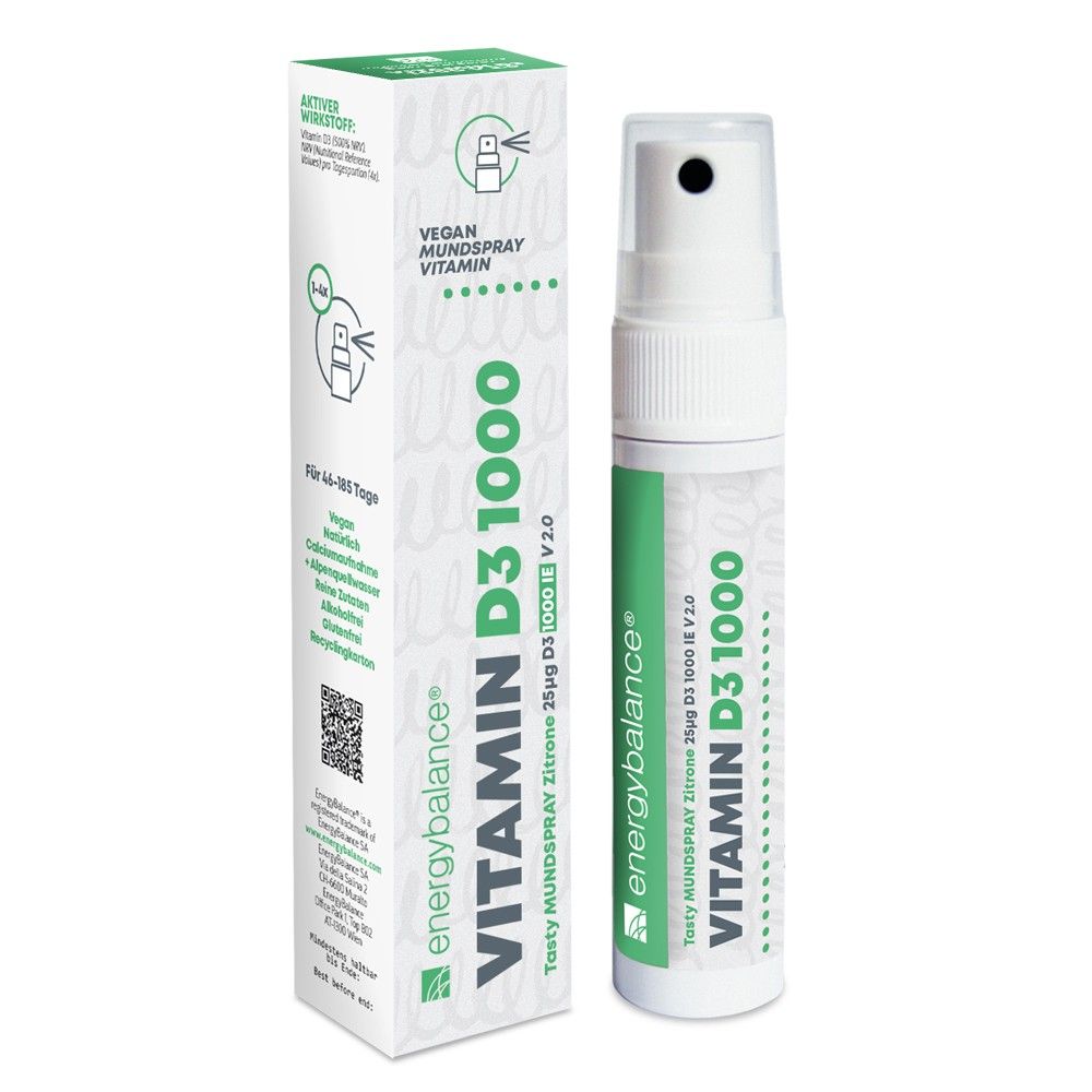 Vitamin D3 1000 Spray Vegan Tasty 25µg, 185 Sprays