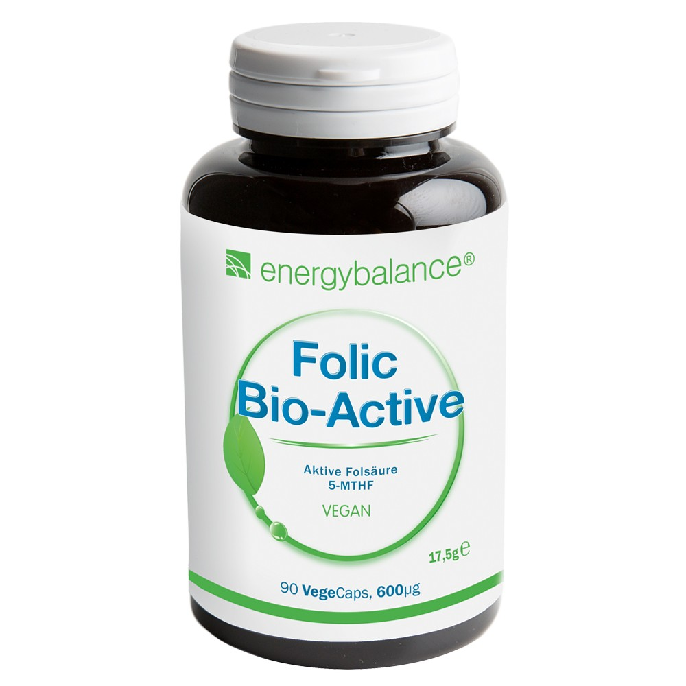 Folic Acid Bio-Active Folate 5-MTHF 600µg, 90 VegeCaps